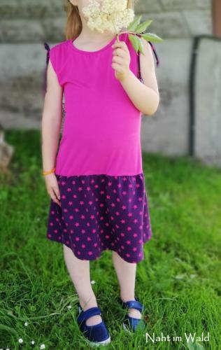 Sonja Kohler - Naht im Wald - pink Bambusjersey violett Sterne Baumwolljersey