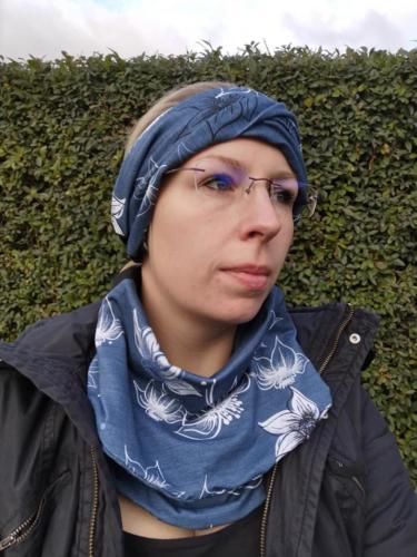Steffi Rößler - mamizeit - Beanie Halssocke Twister und Halslatz alles aus doppeltem Jersey. Ich m