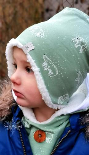 Stephie Schneeweis SewingSnowy Beanie mit Ohren aus Sweat und Teddyplüsch