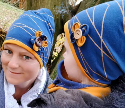 Stephie Schneeweis SewingSnowy Multifunktionsbeanies und Halslatz aus 2 Lagen Sommersweat