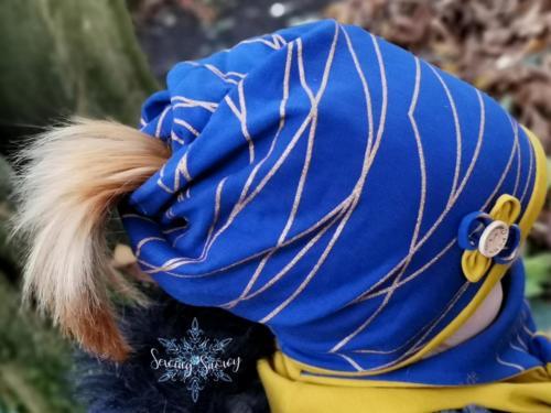 Stephie Schneeweis SewingSnowy Multifunktionsbeanie und Halslatz aus 2 Lagen Sommersweat