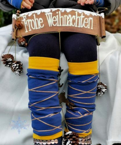 Stephie Schneeweis SewingSnowy Beinstulpen aus Sommersweat