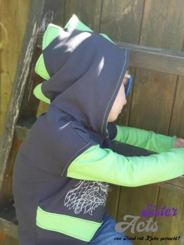 Diana Hauck SisterActs... Grün Jersey und grau Sweat (glaub ich hihi) Größe 110
