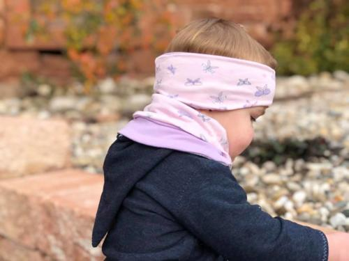 Katy Mich - FrechMöhrschie- Stirnband mit Ohren und Halssocke - doppelt Jersey