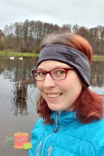Julia Hilgart - Jule mit der Spule Stirnband Jersey & Baumwollfleece