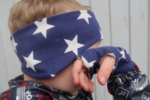 Stefanie Koch Koch näht Stirnband doppellagig Jersey Handstulpen für Kinder gleiche Stoffwahl