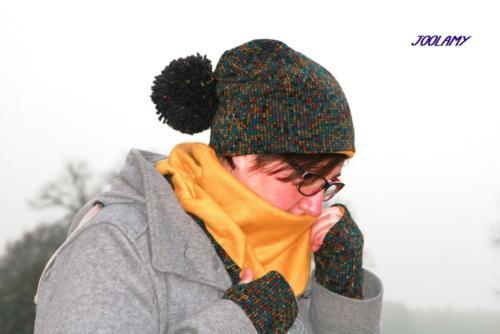 Dagmar - Joolamy - Stulpen Beanie Halslatz für Erwachsene - Jacquard Strick Fleece