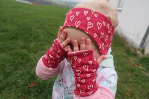 Stefanie Koch Koch näht doppellagig Jersey Strinband und Armstulpen Kinder